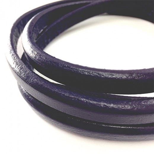 Purple 10 x 7mm Regaliz Leather in 20cm lengths