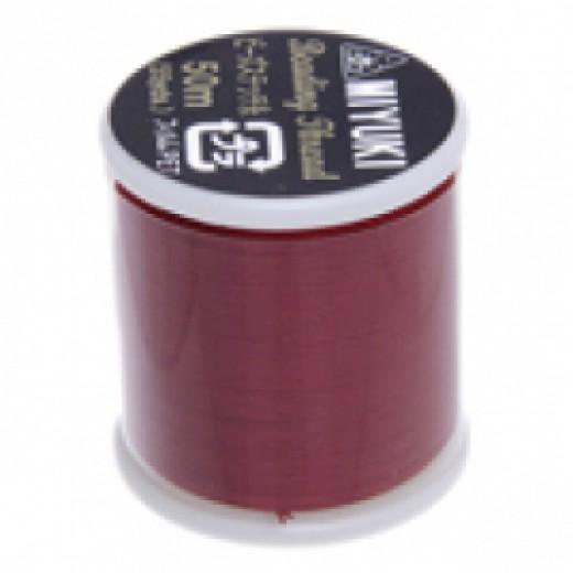 Red Miyuki Beading Thread - 50m reel
