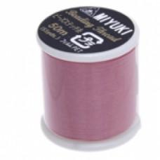 Pink Miyuki Beading Thread - 50m reel