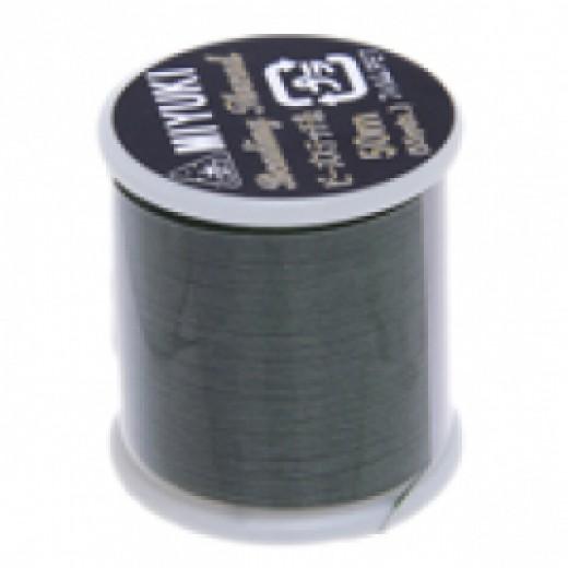 Green Miyuki Beading Thread - 50m reel
