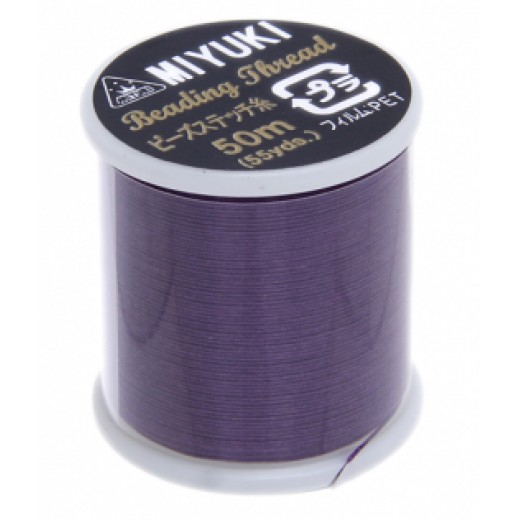 Purple Miyuki Beading Thread - 50m reel