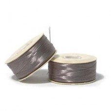 Grey Nymo Beading Thread, Size D (0.30mm)