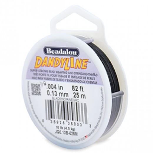 Dandyline 0.13mm Diameter Thread in Black 25M