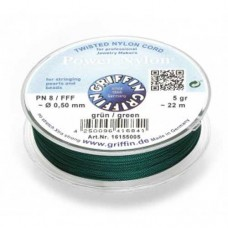 Size FFF 0.5mm  Green Power Nylon on 5g Spool / 22M