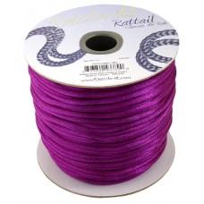 Rattail Cord 3mm Cardinal Purple, priced per 5 metre