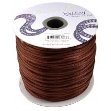 Rattail Cord 3mm Light Chocolate, priced per 5 metre