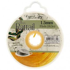 Yellow Rattail Cord 1.5mm 20 yds with Re-Useable Bobbin