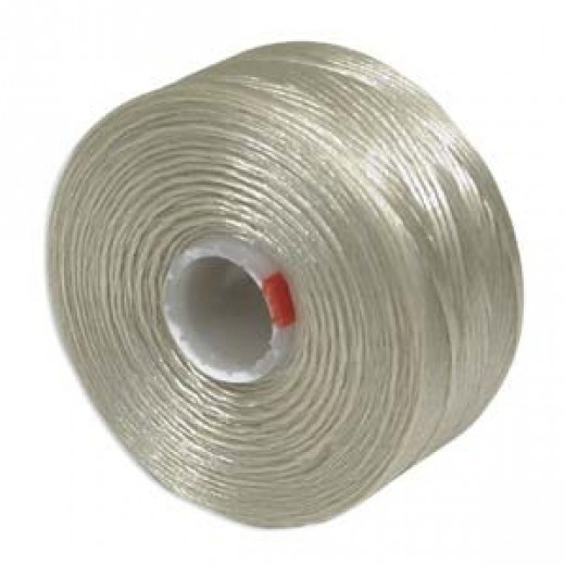 Dark Cream S-Lon D Tex 45 beading cord
