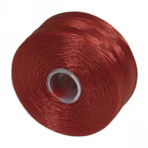 Red S-Lon D Tex 45 beading cord