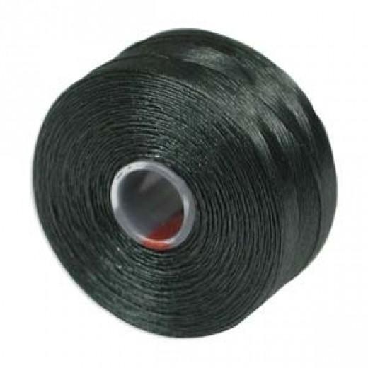 Dark Green S-Lon D Tex 45 beading cord