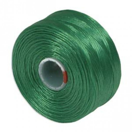 Green S-Lon D Tex 45 beading cord