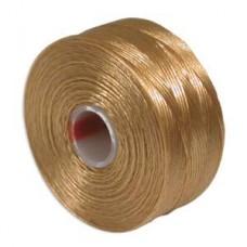 Light Brown S-Lon D Tex 45 beading cord