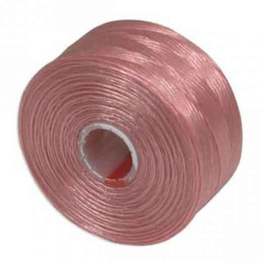 Pink S-Lon D Tex 45 beading cord