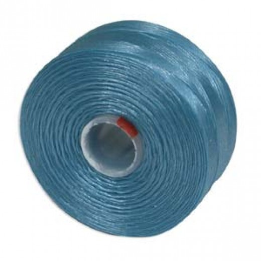 Turquoise Blue S-Lon D Tex 45 beading cord