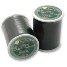 Black SoNo Beading Thread, 100m reel