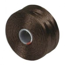 Brown S-Lon D Tex 45 beading cord