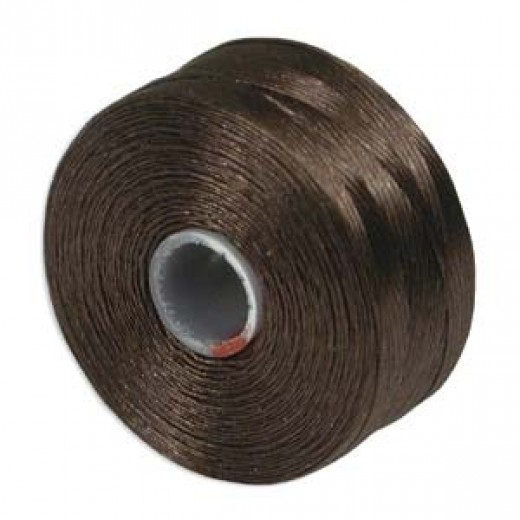 Brown S-Lon D Tex 45 beading cord