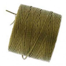Antique Gold S-Lon 0.5mm Bead Cord on 77 yard Spool