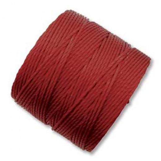Dark Red S-Lon 0.5mm Bead Cord on 77 yard Spool