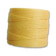 Golden Yellow S-Lon 0.5mm Bead Cord on 77 yard Spool