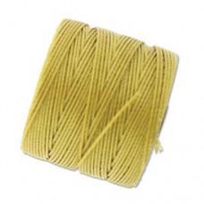 Light Maize S-Lon 0.5mm Bead Cord on 77 yard Spool