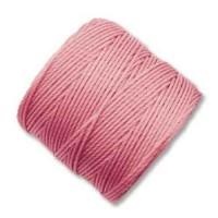 Pink S-Lon 0.5mm Bead Cord on 77 yard Spool