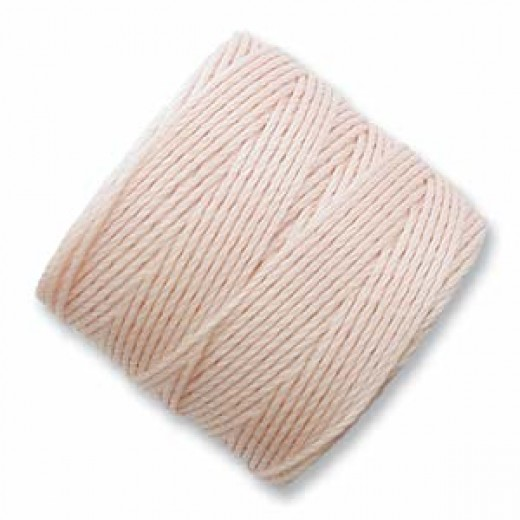 Natural (Seashell) S-Lon 0.5mm Bead Cord on 77 yard Spool