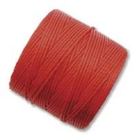 Shangai Red S-Lon 0.5mm Bead Cord on 77 yard Spool