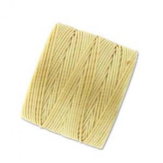 Wheat S-Lon 0.5mm Bead Cord on 77 yard Spool