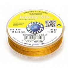 Bulk Reel Amber Griffin Jewellery Silk Size FFF / 0.42mm, 80g / 400M Spool