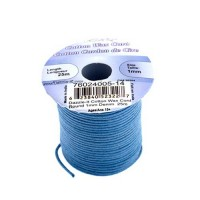 1mm Waxed Cotton Cord, Light Denim - 25m Spool