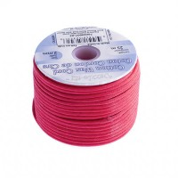 2mm Waxed Cotton Cord, Pink - 25m Spool