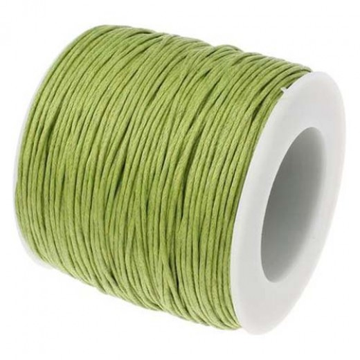 2mm Waxed Cotton Cord, Green, 10 Metres