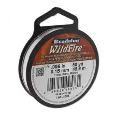 "Beadalon 161U-008 Wildfire, 0.15mm ( 0.0006"") Frost,  45m (50yds)"