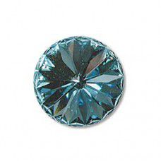 Aquamarine Swarovski 12mm Rivoli, Foiled