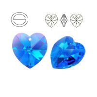 Swarovski Heart Pendant - Sapphire 10.3x10mm