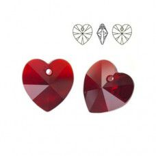 Swarovski Heart Pendant - Siam 14.4 x 14mm