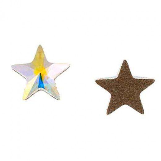 Swarovski Flatback 5mm Star Crystal AB
