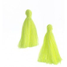 Sunshine Yellow 25mm Cotton Tassels (20pcs)