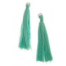 Turquoise 63mm Poly Cotton Tassels (10pcs)