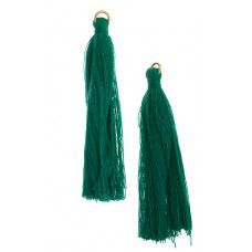 Emerald 63mm Poly Cotton Tassels (10pcs)