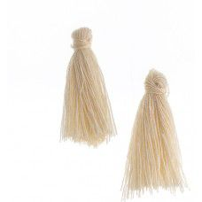 Ivory 25mm Cotton Tassels (20pcs)