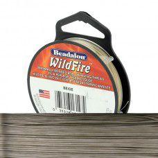 Beige 0.15mm Wildfire Beading Thread, 161S-008, 45m spool