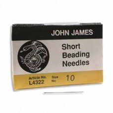 Size 10 John James English Short Beading Needles - pack of 25