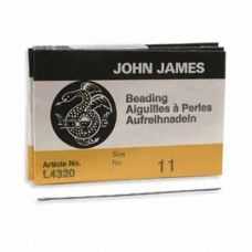 Size 11 John James Beading Needles - longs - pack of 25