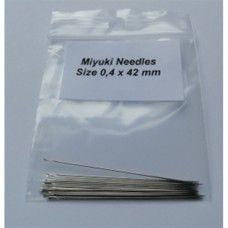Miyuki Beading Needles, size 12, 0.4mm x 42mm, pack of 25