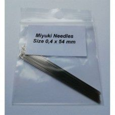 Miyuki Beading Needles, size 12, 0.4mm x 54mm, pack of 25