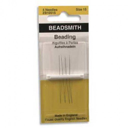 Size 15 John James Beading Needles - pack of 4