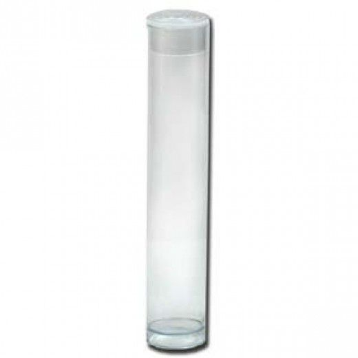 Clear Plastic Tubes.  3 x 9/16 inch. Pack of 10