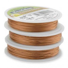 """Champagne Colour 0.015"""" Beadalon 7 Strand Beading Wire, 100ft Reel, JW02CH-..."""